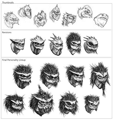 Alien Enemy Head Process