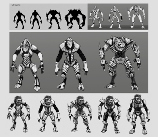 Alien Enemy Design Process